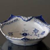 Blue Fluted , half lace, pickle dish