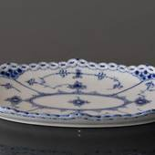 Blue Fluted, Half Lace, oval Pickle Dish, Royal Copenhagen 25cm