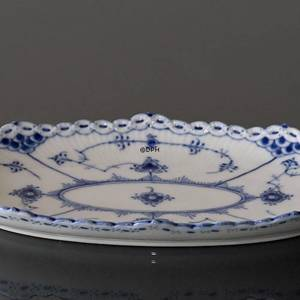 Blue Fluted, Half Lace, oval Pickle Dish, Royal Copenhagen 25cm | No. 1102349 | Alt. 1-613 | DPH Trading