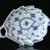 Blue Fluted, Half Lace, Leafshaped Pickle Dish, Royal Copenhagen