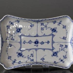 Blue Fluted, Half Lace, tray for sugar bowl and cream jug 24cm