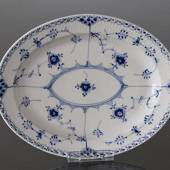 Blue Fluted, Half Lace, Serving Dish, Royal Copenhagen 30cm