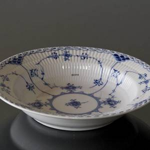 Blue Fluted, Half Lace, soup plate, Royal Copenhagen 21cm