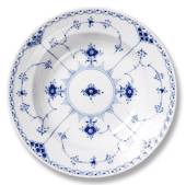 Blue Fluted, Half Lace, soup plate, Royal Copenhagen 24cm