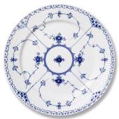Blue Fluted, Half Lace, plate, Royal Copenhagen 17cm