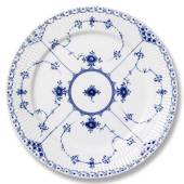 Blue Fluted, Half Lace, plate, Royal Copenhagen 19cm