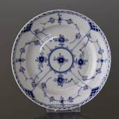 Blue Fluted, Half Lace, flat plate 21cm