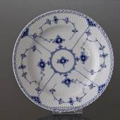 Blue Fluted, Half Lace, flat plate 24cm