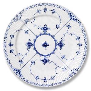 Blue Fluted, Half Lace, plate, Royal Copenhagen 25cm
