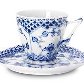 Blue Fluted, Full Lace, Coffee Cup, capacity 14 cl., Royal Copenhagen