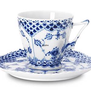 Blue Fluted, Full Lace, Coffee Cup, capacity 14 cl., Royal Copenhagen | No. 1103068 | Alt. 1-1036 | DPH Trading