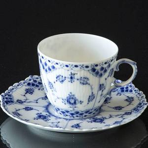 Blue Fluted, Full Lace, Coffee Cup, capacity 16 cl., Royal Copenhagen