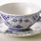 Blue Fluted, Full Lace, Teacup, capacity 22 cl., Royal Copenhagen
