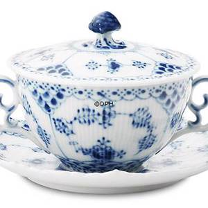 Blue Fluted, Full Lace, Soup cup with Lid, capacity 35 cl., Royal Copenhagen | No. 1103106 | Alt. 1-1228 | DPH Trading