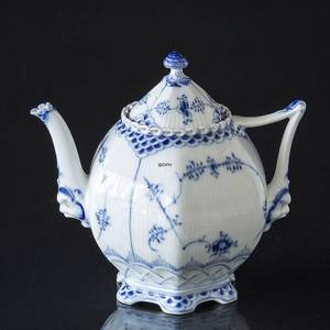 Blue Fluted, Full Lace, Tea Pot, capacity 100 cl., Royal Copenhagen