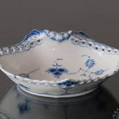 Blue Fluted, Full Lace, oval Pickle Dish, Royal Copenhagen