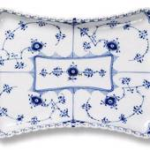 Blue Fluted, Full Lace, Tray for sugar bowl and cream jug 25cm