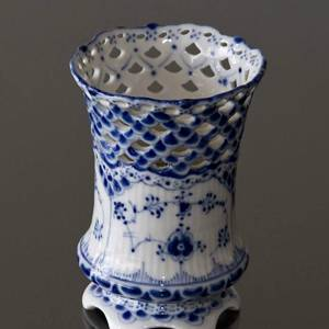 Blue Fluted, Full Lace, Vase | No. 1103370 | Alt. 1-1016 | DPH Trading