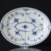 Blue Fluted, Full Lace, oval Serving Dish, Royal Copenhagen 25cm