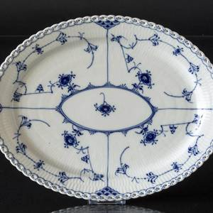 Blue Fluted, Full Lace, oval Serving Dish 36 cm, Royal Copenhagen 36cm