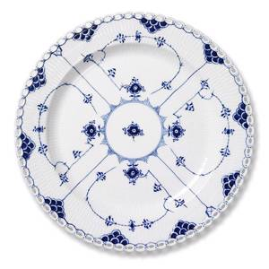 Blue Fluted, Full Lace, round Serving Dish 34cm