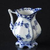 Blue Fluted, Full Lace, Cream jug, capacity 7 cl. small, Royal Copenhagen