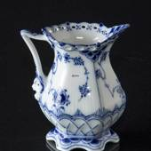Blue Fluted, Full Lace, large, Cream jug