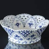 Blue Fluted, Full Lace, large Fruit bowl, Royal Copenhagen 24cm
