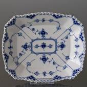 Blue Fluted, Full Lace, Square Bowl, Royal Copenhagen 26cm