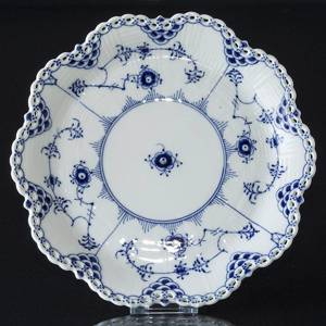 Blue Fluted, Full Lace, Stand for large Fruit bowl no.1061, Royal Copenhage...