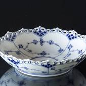 Blue Fluted, Full Lace, round Cake Dish, Royal Copenhagen 21cm