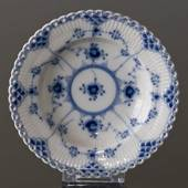 Blue Fluted, Full Lace, Plate Deep 14cm