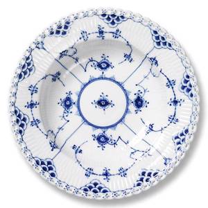 Blue Fluted, Full Lace, Plate Soup 20cm