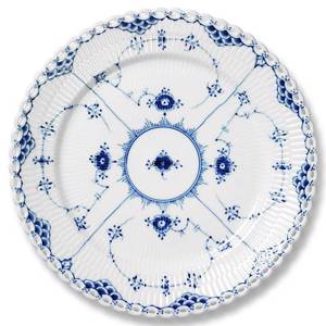 Blue Fluted, Full Lace Plate, Royal Copenhagen 19cm