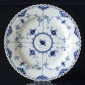 Blue Fluted, Full Lace, Plate, Royal Copenhagen 25cm