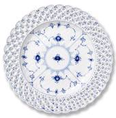 Blue Fluted, Full Lace, Plate with open-work border, Royal Copenhagen 25cm