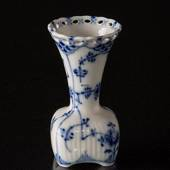 Blue Fluted, Full Lace, small individuel Vase