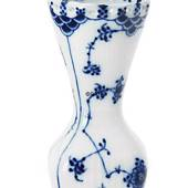 Blue Fluted, Full Lace, Vase