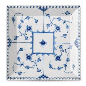 Blue Fluted, Full Lace, dish, square, Royal Copenhagen 14cm | No. 1103714 | DPH Trading