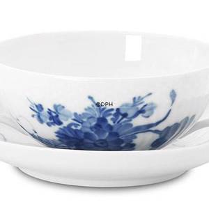 Blue Flower, Curved, Soap cup with saucer, Royal Copenhagen