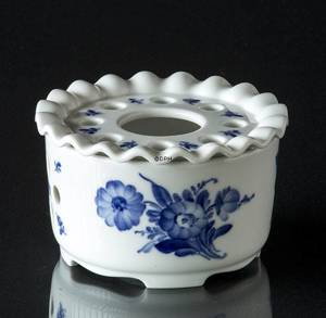 Blue Flower, Curved, Tea Heater with Grate