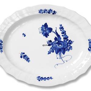 Blue Flower, Curved, oval Serving Dish 31 cm | No. 1106374 | Alt. 10-1555 | DPH Trading
