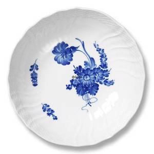 Blue Flower, Curved, Round Salad Bowl, capacity 80 cl., Royal Copenhagen ø21cm | No. 1106577 | Alt. 10-1518 | DPH Trading