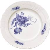 Blue Flower, Curved, Flat Plate 17cm