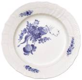 Blue Flower, Curved, Flat Plate 21cm