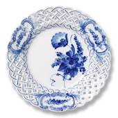 Blue Flower, Curved, Cake Dish with openwork, Royal Copenhagen ø21cm