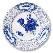 Blue Flower, Curved, Cake Dish with openwork, Royal Copenhagen ø24cm