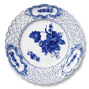 Blue Flower, Curved, Cake Dish with openwork, Royal Copenhagen ø24cm | No. 1106638 | DPH Trading