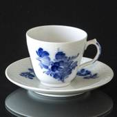 Blue Flower, Braided, Espresso Cup and Saucer, Royal Copenhagen