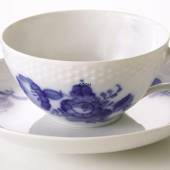 Blue Flower, Braided,Tea cup and saucer, Royal Copenhagen